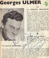 Autographe De Geoges Ulmer - Autographes