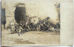 CPA Carte Photo Guerre 14-18 Militaire Caverne Carrière Creute Village MAAST Et VIOLAINE Aisne 02 - France