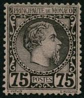 ** N°8 75c Noir S/rose - TB - Monaco