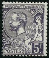 ** N°46 5F Violet, Signé Brun - TB - Monaco