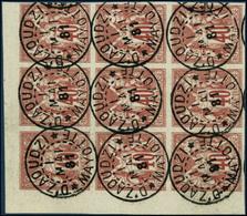 Oblit. N°27 40c Rouge- Orange, Bloc De 9 Obl Dzaoudzi (Mayotte) 1/05/1881 - TB - Francia (vecchie Colonie E Protettorati)