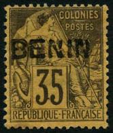 * N°10 35c Violet Noir S/jaune - TB - Benin (1892-1894)