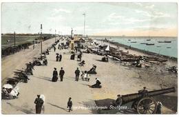 The Beach & Promenade Southsea Postmark 1906 - BR Ltd - Portsmouth
