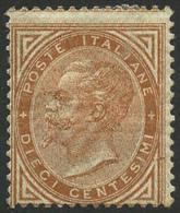 * N°15 10c Jaune-brun, Grosse Charnière Sinon TB - Italia