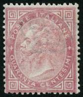 (*) N°19 40c Rose, Signé Calves - TB - Italia