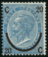 ** N°22b 20c Sur 15c Bleu Pâle, Type I - TB - Italia