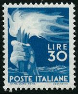 ** N°501 30l Bleu - TB - Italia