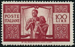 ** N°503 100 L Rouge-carminé - TB - Italia