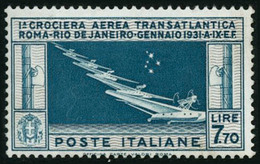 ** N°25 7l70 Bleu-vert Et Bistre - TB - Italia