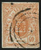Oblit. N°11 40c Rouge-orange - TB - Lussemburgo