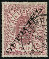 Oblit. N°4 12 1/2 Rose, Infime Pelurage Au Verso - B - Lussemburgo