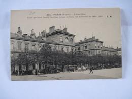 CPA 75 PARIS  L'HOTEL-DIEU FONDÉ PAR SAINT LANDRY 1924 Animée TBE - France
