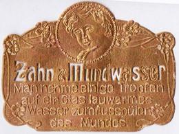 PRINT From J. STERN BERLIN - ZAHN  &  MUNDWASSER  On GOLD Folie - Cc 1910/15 - Labels