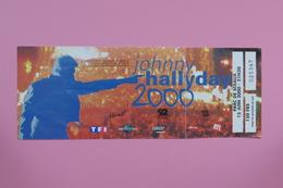 Ticket De Concert - Johnny Hallyday - Parc De Sceaux 2000 - Concerttickets