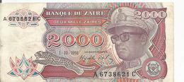 ° ZAIRE 2000 Zaires  ° - Zaïre