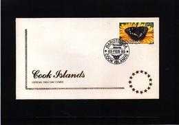 Cook Islands 1993 Butterfly FDC - Schmetterlinge
