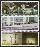 2016-ED. 5034 A 5036 SERIE COMPLETA- Museos. MNCC, MACBA E IVAM -USADO - 1931-Aujourd'hui: II. République - ....Juan Carlos I