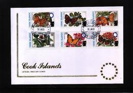 Cook Islands 2003 Butterflies FDC - Schmetterlinge