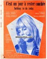 61 80 SYLVIE VARTAN PARTITION MICKY JONES BROWN NOTHING TO DO TODAY UN JOUR À RESTER COUCHÉE 1969 PETIT ORCHESTRE GÉRALD - Muziek & Instrumenten