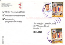 Philippines Cover Sent To Ireland 15-1-2001 With Topic Stamps - Philippines