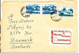 Bulgaria Cover Sent To Denmark 28-6-1974 Incl. Esperanto Label - Bulgaria
