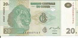 °  BILLET CONGO 20  ° - Zonder Classificatie
