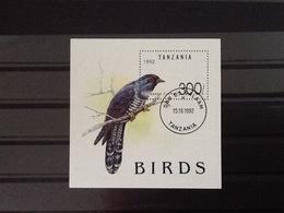 Tanzania 1992 Block European Cuckoo Used. - Tanzanie (1964-...)