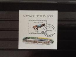 Tanzania 1993 Block Summer Sports High Jump Used. - Tanzanie (1964-...)