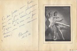 Autographes De Danse Emilio Altes De Molinari Claudette - Autographes