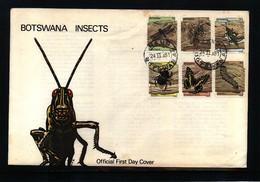 Botswana 1981 Insects FDC - Schmetterlinge