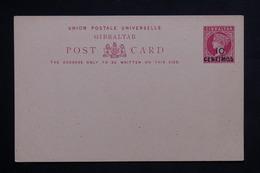 GIBRALTAR - Entier Postal 1 Penny, Surchargé 10 Centimos , Non Circulé - L 22306 - Gibilterra