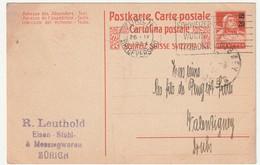 SUISSE - ENTIER POSTAL - Zürich Le 26/09/1924 - Interi Postali
