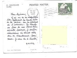 Afrique-BASUTOLAND-Une Vue Des Giraffes-PUB.Colection AMORA-TIMBRE-Obliteration-1956 - Cartes Postales
