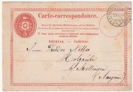 SUISSE - ENTIER POSTAL - B.P.Schaffhausen-Winterthur Le 19/11/1871 - Interi Postali