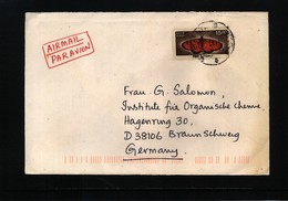 India Butterfly Interesting Airmail Letter - Schmetterlinge