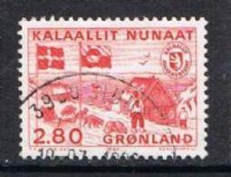 Greenland SG158 1986 Postal Independence 2k.80 Good/fine Used [13/13838/6D] - Greenland