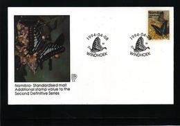 Namibia 1994 Butterfly FDC - Schmetterlinge