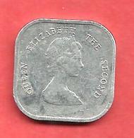 2 Cents , Etats Des CARAIBES De L'Est  , Aluminium , 1992 , N° KM # 2 - Caraïbes Orientales (Etats Des)
