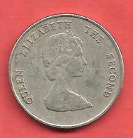 25 Cents , Etats Des CARAIBES De L'Est  , Cupro-Nickel , 1993 , N° KM # 5 - Caraibi Orientali (Stati Dei)