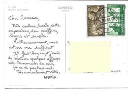 Afrique-IFNI-ESPAGNE-Hommes Aux COUFFINS-PUB.Collection AMORA-TIMBRE-Obliteration-1961 - Postcards