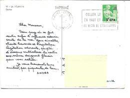 Afrique-LA REUNION-Une Vue Des CACTUS-PUB.Collection AMORA-TIMBRE-Obliteration-1961 - Reunion