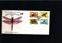 Zimbabwe 1995 Insects - Butterfly FDC - Schmetterlinge
