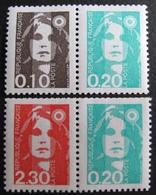 R1624/395 - 1990 - TYPE MARIANNE DU BICENTENAIRE - N°2614 à 2617 TIMBRES NEUFS** - Cote : 20,00 € - France