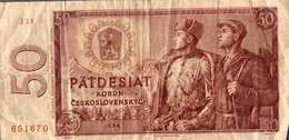 Billet Pätdesiat Korun Ceskolslovenskych 50 1964 - Tchécoslovaquie