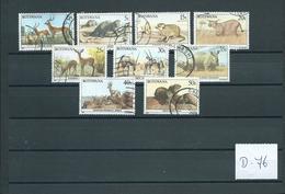 1987 Botswana Animals.dieren,tiere Used/gebruikt/oblitere(D-76) - Verzamelingen (zonder Album)