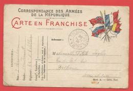 Carte De Correspondance Des Armées De La République Carte En Franchise 29 SEPTEMBRE 1914 Voir 2 Photos - Guerre 1914-18