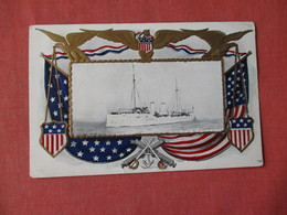 Gold Border Frame Embossed-US Cruiser Baltimore - Ref 3154 - Oorlog