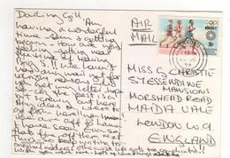 """Timbres , Stamps """" Jeux Olympiques Munich 1972 """" Sur Cp , Carte , Postcard  Du 25/10/1972 - Kenya (1963-...)"""