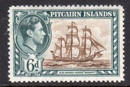 PITCAIRN ISLANDS - 1940 1 6d KGVI SHIP STAMP FINE MINT LMM * SG6 - Stamps