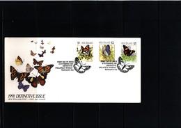 New Zealand 1991 Butterflies FDC - Schmetterlinge